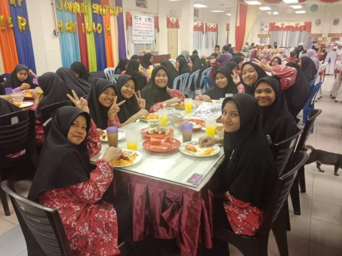Iftar at SMU Amalin Putri 2019